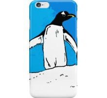 Penguin with blue sky iPhone Case/Skin