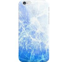 Blue Abstract Cracked Ice iPhone Case/Skin