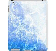 Blue Abstract Cracked Ice iPad Case/Skin