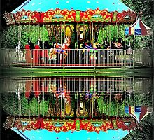 Carousel Reflections by Jean Gregory  Evans