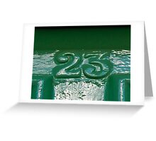 That number again...This time smothered in Green Paint Greeting Card
