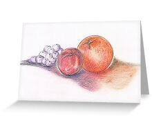 Juicy Fruits Greeting Card