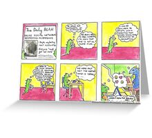 Dinah the Aspie Dinosaur and the Online Social Network Greeting Card