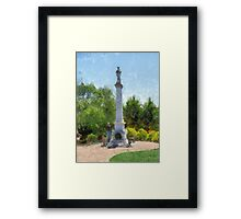 Confederate Monument in Franklin, NC Framed Print