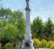 Confederate Monument in Franklin, NC by Jean Gregory  Evans