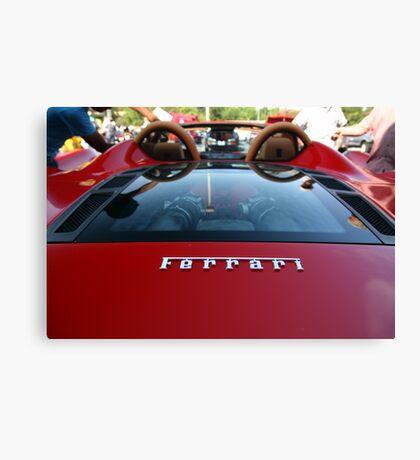 Ferrari Emblem - Super Car Sunday Canvas Print