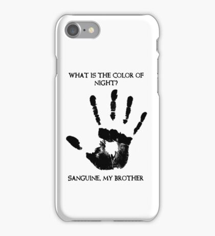 Sanguine My Brother iPhone Case/Skin