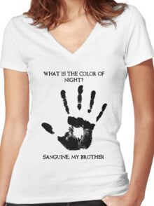 Sanguine My Brother Women's Fitted V-Neck T-Shirt