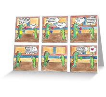 Dinah the Aspie Dinosaur and the Difficult Decision Greeting Card