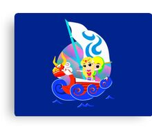 Link and Zelda at Sea Canvas Print
