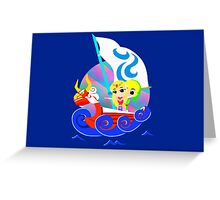 Link and Zelda at Sea Greeting Card