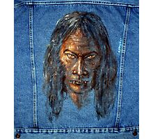 Vampire  (Oil painting on jeans jacket) Photographic Print