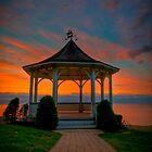 Gazebo at Sunset by (Tallow) Dave  Van de Laar
