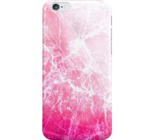 Pink Abstract Cracked Ice iPhone Case/Skin