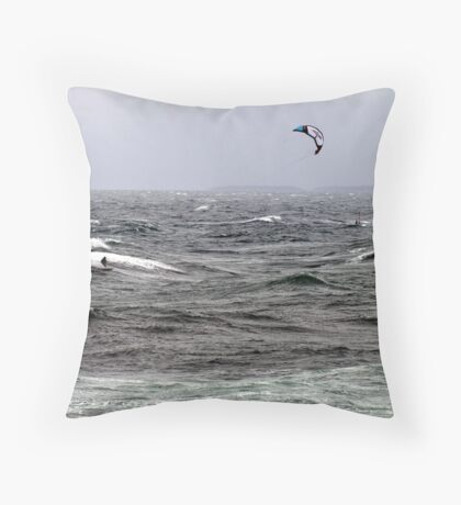 Blown By The Wind Throw Pillow