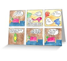 Dinah the Aspie Dinosaur and the Effective Remedy Greeting Card