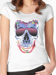 Skull color Women's Fitted Scoop T-Shirt
