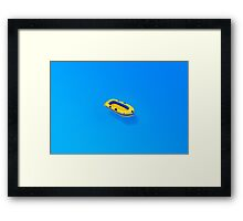 Yellow boat in Saint Tropez Bay, Southern France Framed Print