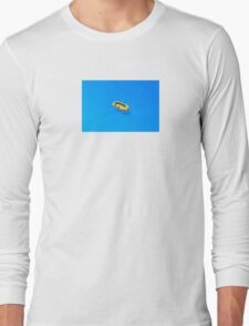 Yellow boat in Saint Tropez Bay, Southern France Long Sleeve T-Shirt