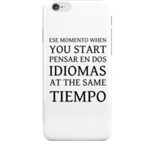 ESE MOMENTO iPhone Case/Skin