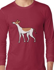 Proud Greyhound - brown and white Long Sleeve T-Shirt