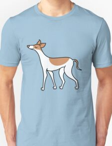 Proud Greyhound - brown and white T-Shirt