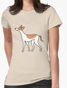Proud Greyhound - brown and white Womens Fitted T-Shirt