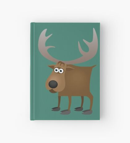 Silly friendly deer Hardcover Journal