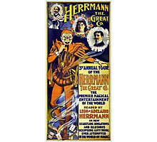 Herrmann the Great 1898 Vintage Poster Restored Photographic Print