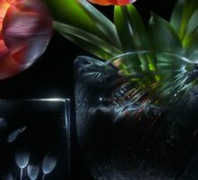 Tulips - lightpainted still life Sticker