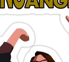 Liz Lemon - High fiving a million angels Sticker