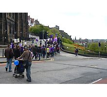 Purple Protest Edinburgh Photographic Print