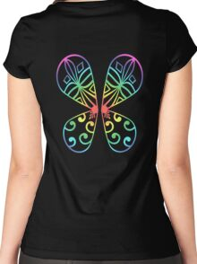 Fairy Wings - Rainbow Women's Fitted Scoop T-Shirt