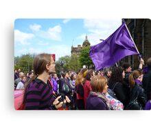 Purple Protest Rally Canvas Print