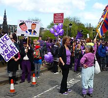Purple People Edinburgh Rally: New Traffic Signals Ahead by Yonmei