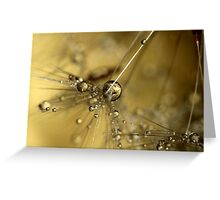 Droplets Of Gold Greeting Card