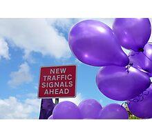 New Traffic Signals Ahead Photographic Print