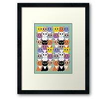 Only A Glaring Of Cats Framed Print