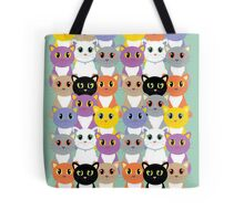 Only A Glaring Of Cats Tote Bag