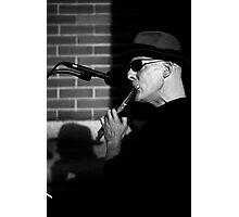 Street Flautist Photographic Print