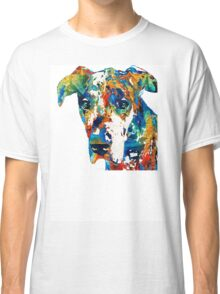Colorful Great Dane Art Dog By Sharon Cummings Classic T-Shirt