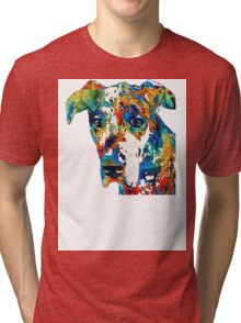 Colorful Great Dane Art Dog By Sharon Cummings Tri-blend T-Shirt