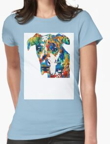 Colorful Great Dane Art Dog By Sharon Cummings Womens Fitted T-Shirt