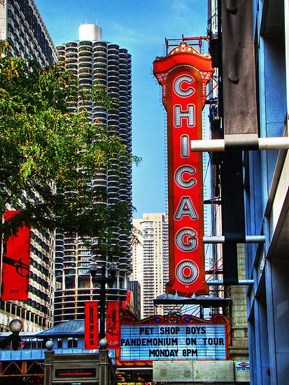 Chicago Theatre & Marina City by JCBimages