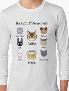THE CATS OF STUDIO GHIBLI Long Sleeve T-Shirt
