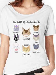 THE CATS OF STUDIO GHIBLI Women's Relaxed Fit T-Shirt