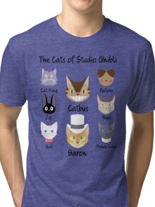 THE CATS OF STUDIO GHIBLI Tri-blend T-Shirt