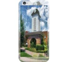 Clock Tower on the Square in Downtown Franklin iPhone Case/Skin