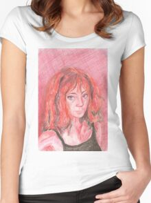 Red Kylea- Self Portrait Women's Fitted Scoop T-Shirt