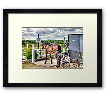 """""""Energy Efficent"""" - Vehicle Runs on Oats and Grass- CAUSION! -Don't step in Exhaust Framed Print"""
